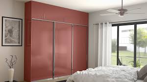 small bedroom decoration with best fan ideas and dark pink simple wardrobe color also using elegant curtains for glass door design
