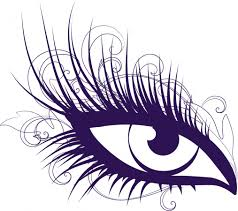 eye with lashes - Clip Art Library