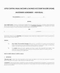 Investment Agreement Template Gallery Small Business Investment