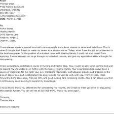 Cover Letter For Nursing Student Jobs Eursto Com