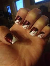 Alabama Nail Art Designs Nail Design For The Alabama Crimson Tides Season Opener