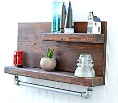 wooden shelf with hooks wooden towel rack with shelf wood towel rack with hooks rustic wood