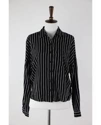 forever 21 black striped on down top