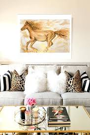 glam wall art original glam horse painting gold decor wall art decor
