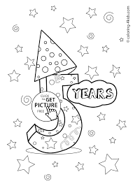 Full Birthday Colouring Pages Coloring For Kids Party Valence