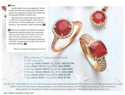 claims and disclaimers from macy s mother s day jewelry catalog 2010 and macys com gemstone treatment and care