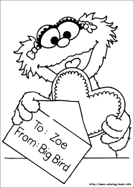 Sesame Street Coloring Pages On