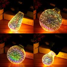 E27 6w Colorful 3d Christmas Holiday Led Firework Light Home