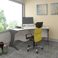 Workspace furniture office interior corner office desk Decor Corliving Workspace Grey Curved Corner Desk Overstock Shop Corliving Workspace Grey Curved Corner Desk Free Shipping