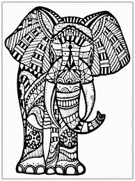 Big Elephant Coloring Pages For Adult www.RealisticColoringPages ...