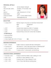 ... The Example Of Resume 14 Resume Sample First Job Resumes ...