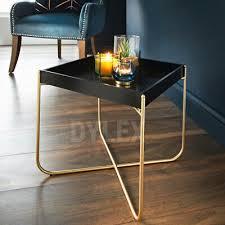 new tray table gold legs black tray