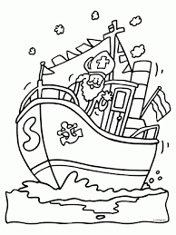 Kleurplaat Boot Sinterklaas Norskiinfo