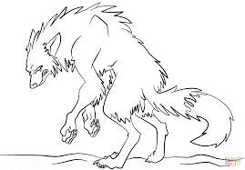 Small Picture Scary Werewolf coloring page Free Printable Coloring Pages