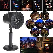 Landscape Projector Lights 12 Patterns Christmas Waterproof Moving Sparkling Led Landscape Laser Projector Lights Decor
