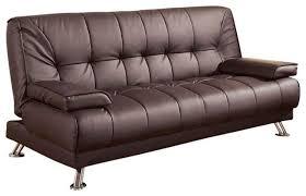 futon sofa bed. Jordan Brown Leatherette Futon Sofa Bed