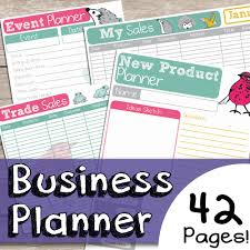 bumper business planner kit 137 printable pages bussiness planner