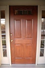 faux wood painted door closeup
