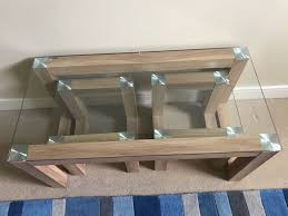 hygena cubic coffee table set with 2 side tables in immaculate condition as brand new