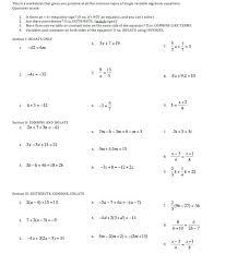 solving linear equations form x a c a
