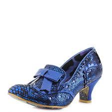 Irregular Choice Shoe Size Chart Details About Womens Irregular Choice Here And Present Metallic Blue Kitten Heels Shu Size