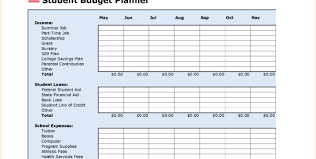 How To Budget As A College Student Printable College Budget Worksheet Download Them Or Print
