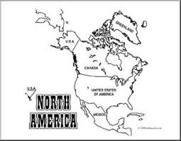 Small Picture Clip Art North America Map coloring page Labeled I abcteachcom
