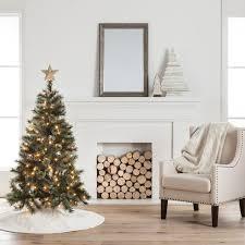 Perfect Design 4 Christmas Tree Ft Pre Lit Hillside Pine 4 Christmas Trees