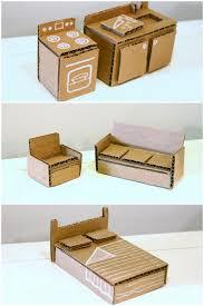 homemade dolls house furniture. Cute Little Corrugated Cardboard Dolls House Furniture Homemade H