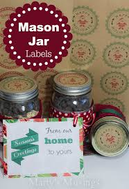 printable labels for mason jars christmas mason jar gifts free printables