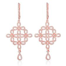 ingenious rose gold chandelier earrings with open flowers