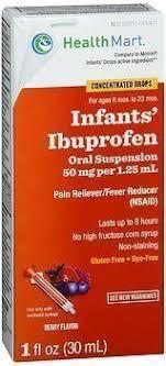 Ibuprofen Concentrated Drops Dosage Chart Health Mart Infants Ibuprofen Concentrated Drops Berry Flavor 1 Oz