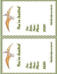 free dinosaur party invitations dinosaurs images free party invitations free printable