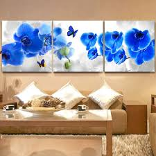 buy free shipping3 pieces modern wall oil painting bedroom decor blue orchid flower wall art picture paint on canvas prints in cheap price on alibaba  on blue orchid canvas wall art with buy free shipping3 pieces modern wall oil painting bedroom decor