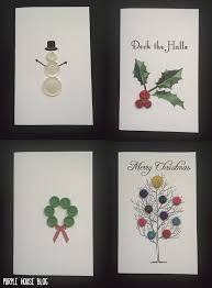 Homemade Card Templates Diy Button Holiday Cards With 8 Free Downloadable Templates