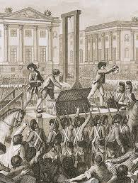the reign of terror a representation of the guillotine in use during the reign of terror