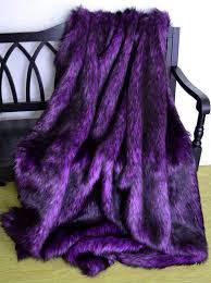Purple Fur Throw Blanket