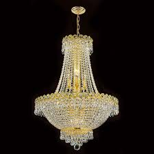 worldwide lighting corp empire 12 light gold finish with clear crystals chandelier