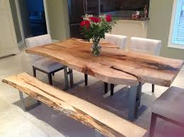modern wood dining room sets. LIVE EDGE DINING TABLE SINGLE SLAB HARVEST Contemporary- Dining-room Modern Wood Dining Room Sets D
