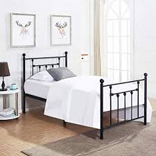 Fullring Image Unavailable Amazoncom Amazoncom Twin Size Bed Frame Vecelo Metal Platform Mattress