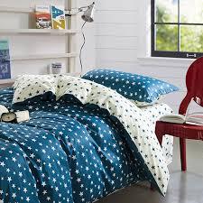 stylish stars blue and white cotton bedding set 1 600x600 stylish stars blue and white