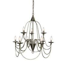 blakely 9 light brushed nickel chandelier