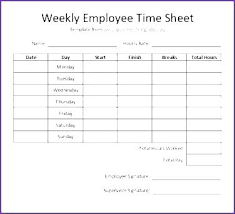 Excel Employee Timesheet Template How To Make A In Payroll