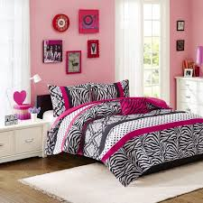 mi zone reagan comforter set twin twin xl size pink zebra polka dot 3 piece bed sets ultra soft microfiber teen bedding for girls bedroom souq