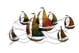 coastal metal wall art marine and nautical themed outdoor