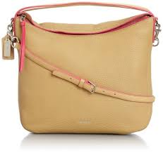Purchase New Coach Bleecker Sullivan Hobo in Edgepaint Leather Camel Pink  Ruby 31624