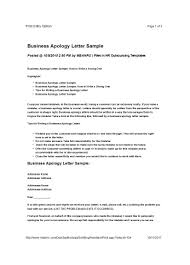 Apologize Business Letter 48 Useful Apology Letter Templates Sorry Letter Samples