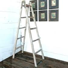a frame ladder shelves wooden picture display holder shelf