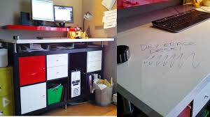 create a dry erase standing desk with built in white board