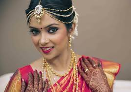 simple hairstyles for south indian wedding reception